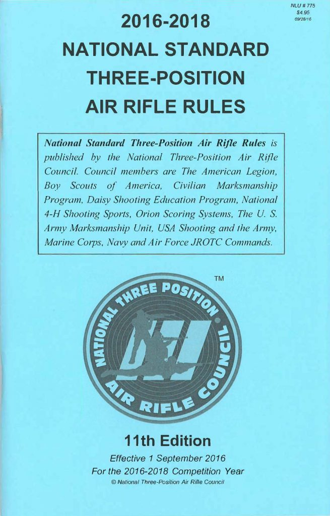National Standard Three Position Air Rifle Rules Civilian