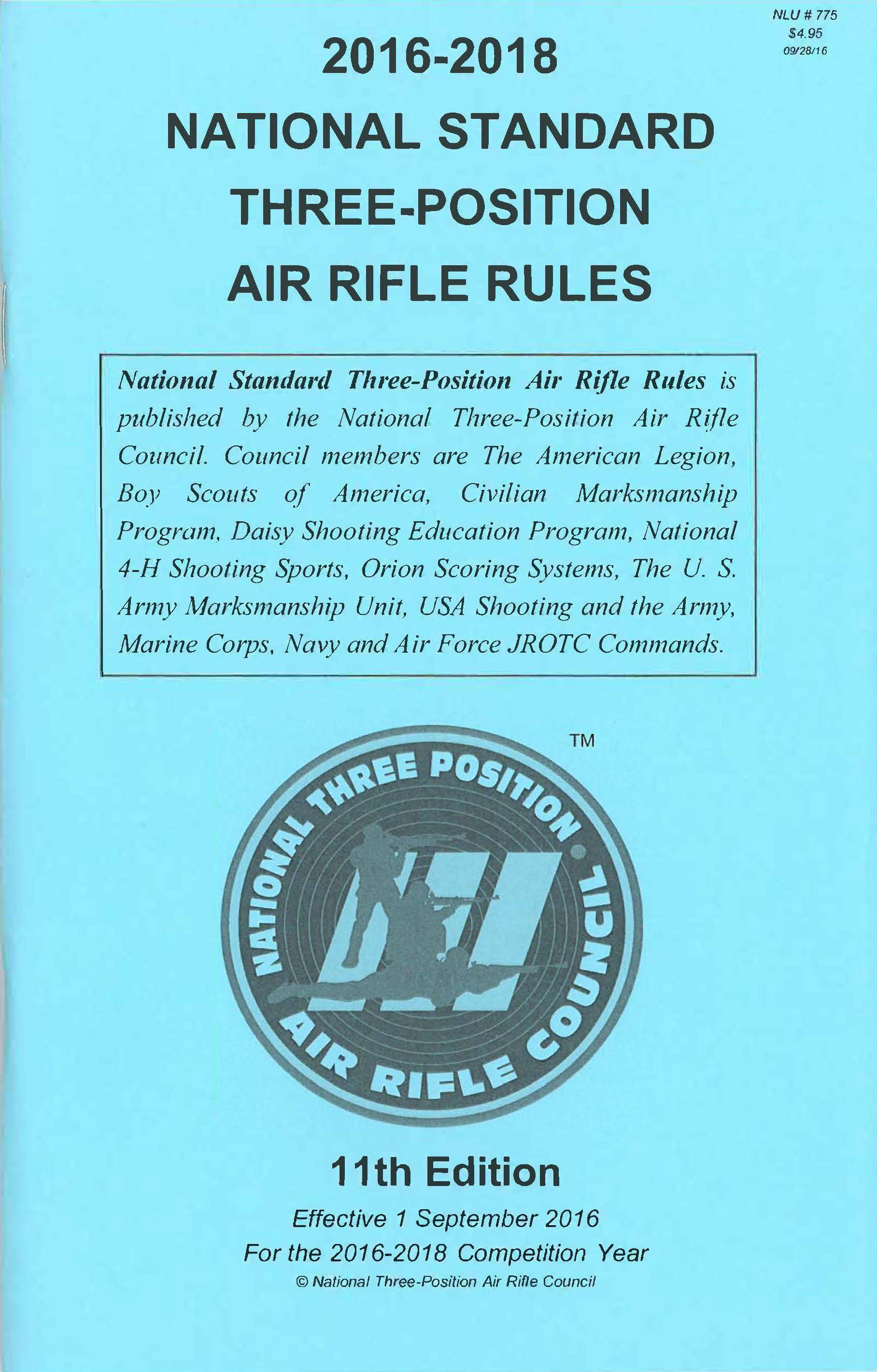 junior camp counselors civilian marksmanship programcivilian national standard three position air rifle rules
