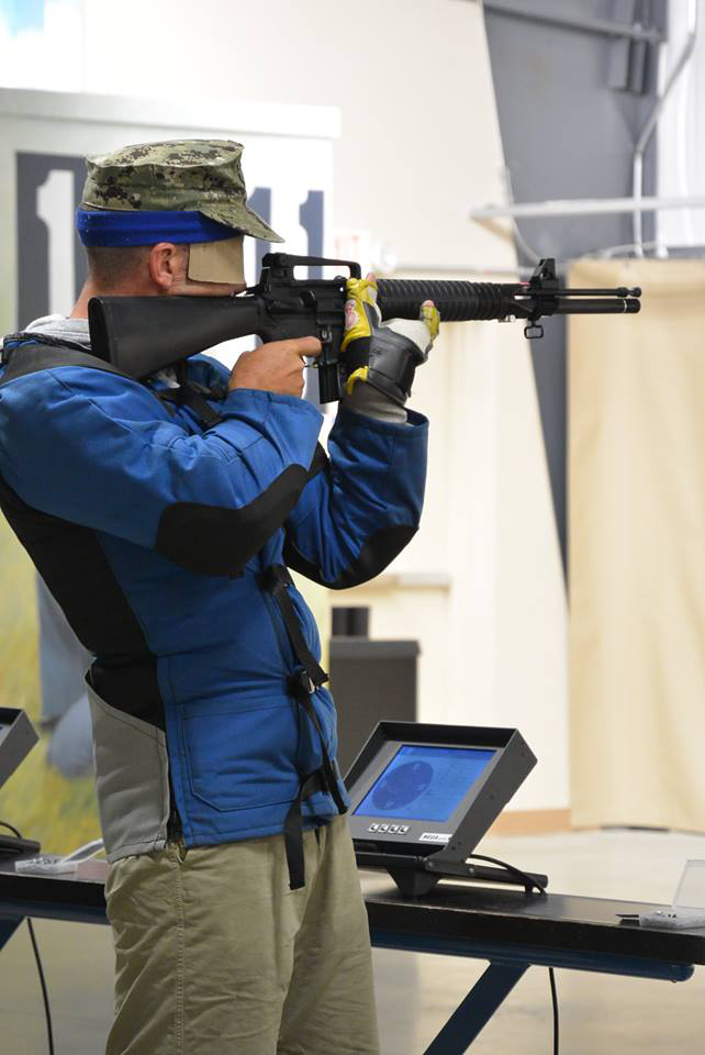 Competitors aim at 200 yard reduced SR targets for the rifle events, and use the ISSF Air Pistol targets for the pistol events.