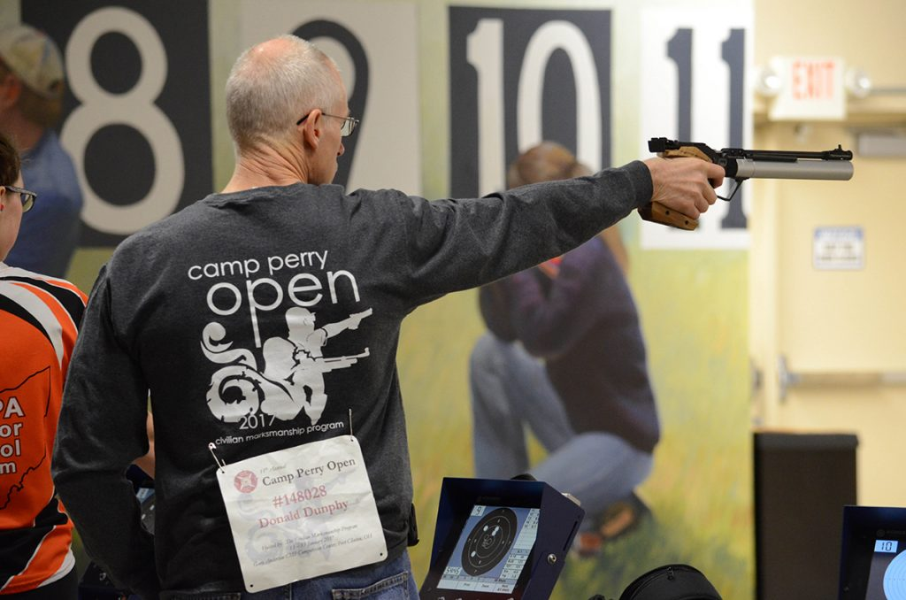 The Camp Perry Open is one of the CMP's events throughout the year that combines both air rifle and air pistol competition for adults and juniors.