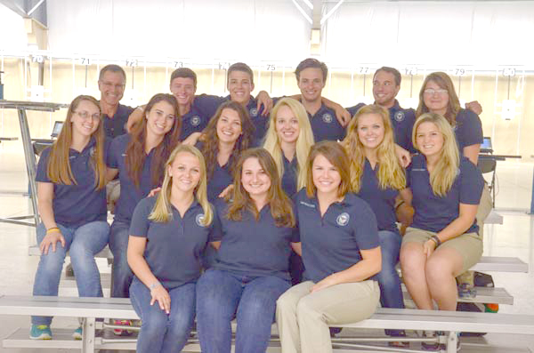 MacAllister (second row, far left) was a CMP Summer Camp Counselor before taking her coaching abilities to the collegiate level.
