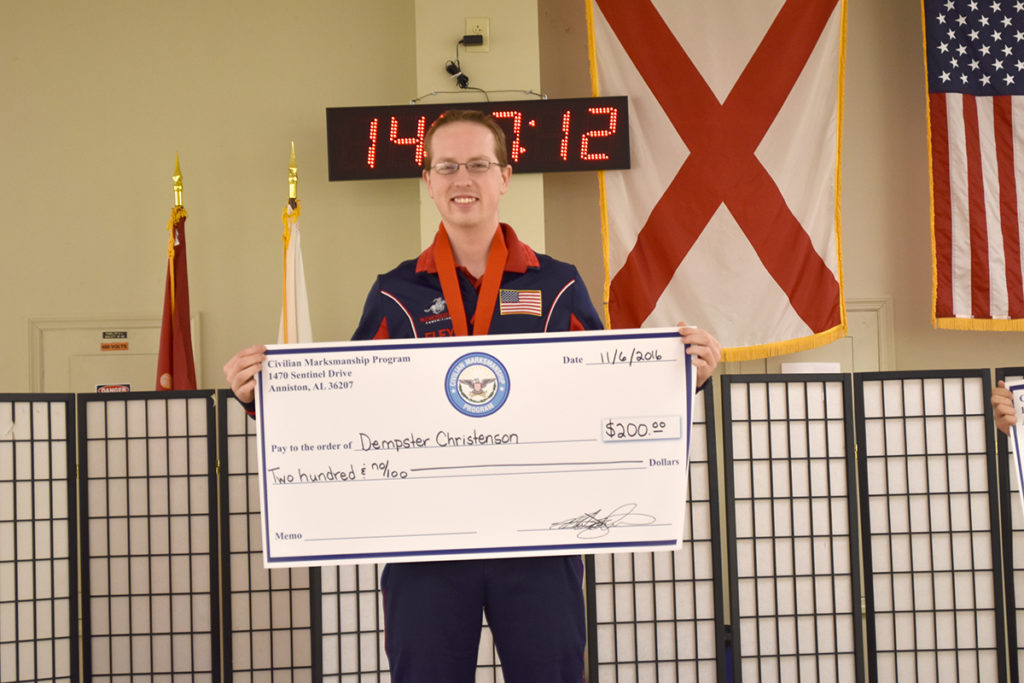 Dempster Christenson fired the overall score in the 60 Shot Rifle Match.