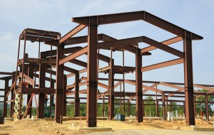 The structural steel is being erected at the 13,000 square foot clubhouse at CMP's Talladega Marksmanship Park. The $20 million state of the art shooting range is to open in Spring of 2015.