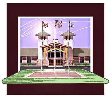 Clubhouse-Front-Flagpoles