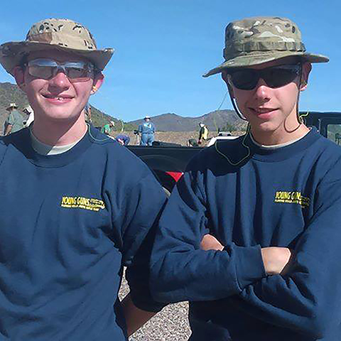 Cody Gamblin (right) earned the High Junior award and also landed in third place overall during the M16 Match at Western Games in October. Cody also earned his first EIC rifle points during the match.