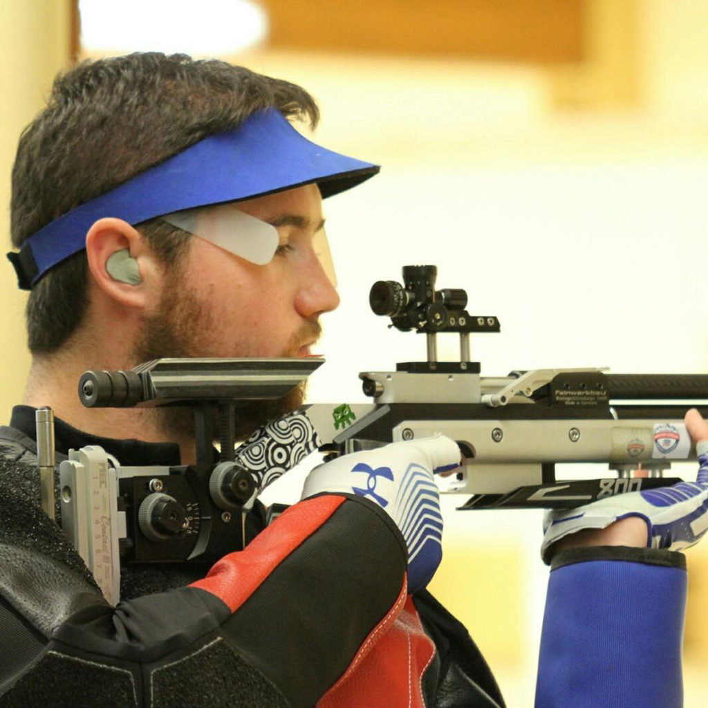Chance Cover, CMP staff member and former CMP air rifle camp counselor, landed in first place during the 60 Shot rifle match.