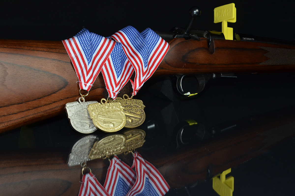 Rimfire achievement medals are awarded to competitors that fire scores within the established bronze, silver and gold cut-scores.