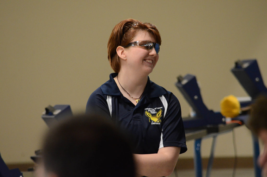 Margaret Delnoce was all smiles when she was named the pistol Super Finals champion.