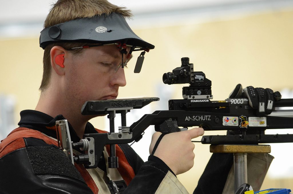 Dempster Christenson led overall in the 60 Shot Open Rifle match and also won the rifle Super Final.