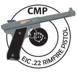 EIC .22 Rimfire Pistol Achievement Pin