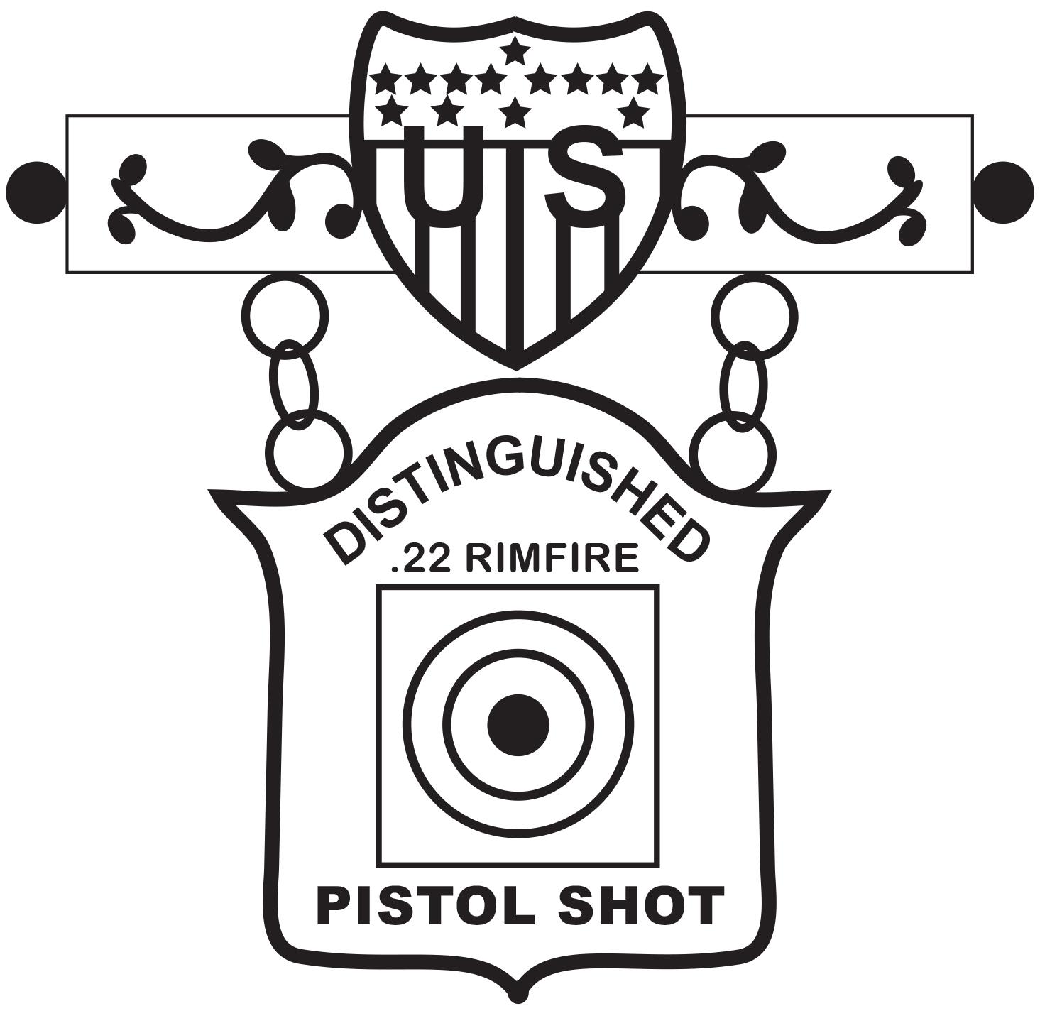 Rimfire pistol distinguished badge achievement pins get new eic 22 rimfire pistol badge buycottarizona