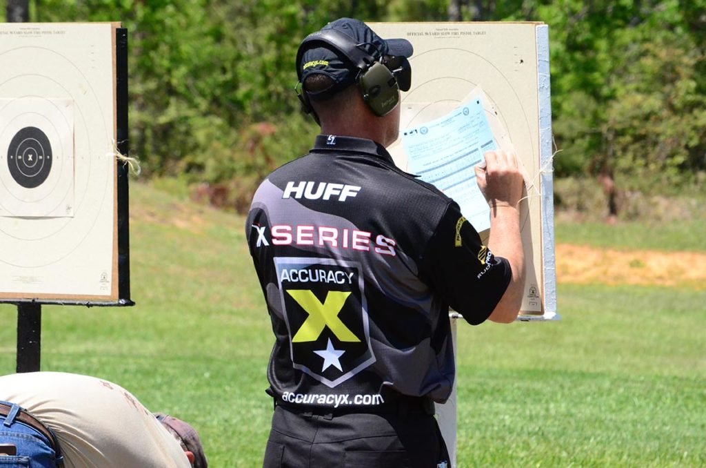 Huff took the gold in the 40 Shot Pistol competition and the EIC Service Pistol Match at the 2014 Eastern CMP Games, proving his excellence as a talented competitor.
