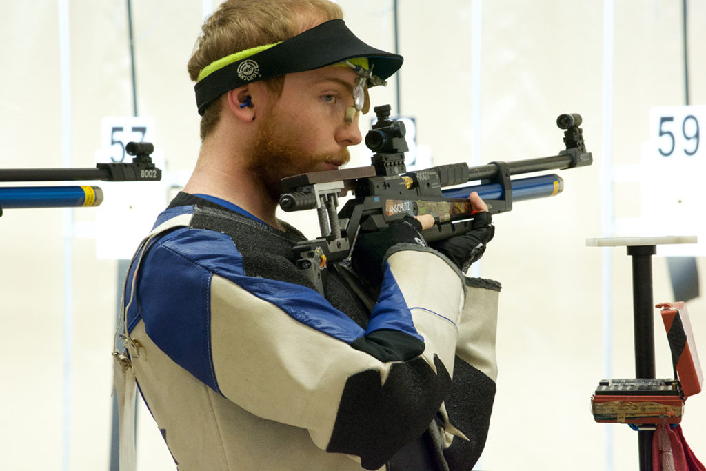 Elijah Ellis earned second place overall in the 60 Shot rifle match, just behind fellow CMP staff member Chance Cover.