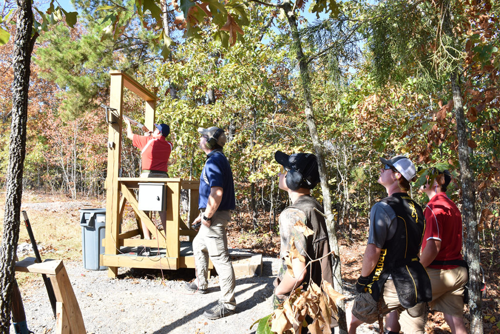 The Harvester shoot featured 100 rounds of clays through 15 stations sprinkled throughout the beautiful Alabama fall foliage.