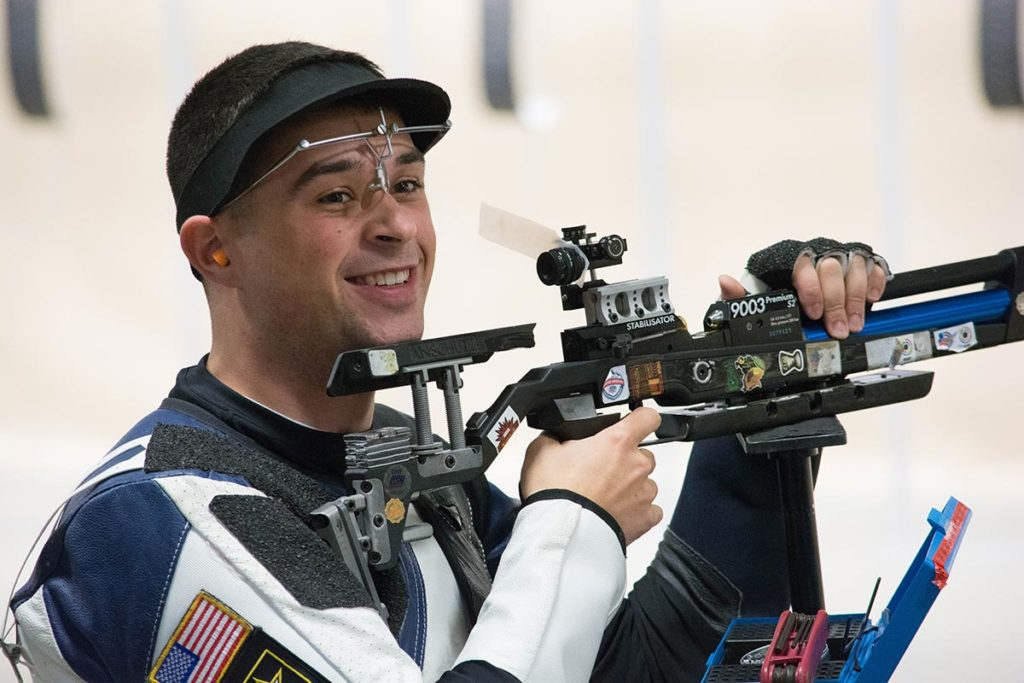 After a tense final shot, Dan Lowe of the Army Marksmanship Unit beat his teammate by 0.1 points to become the Super Final Champion in the rifle category.