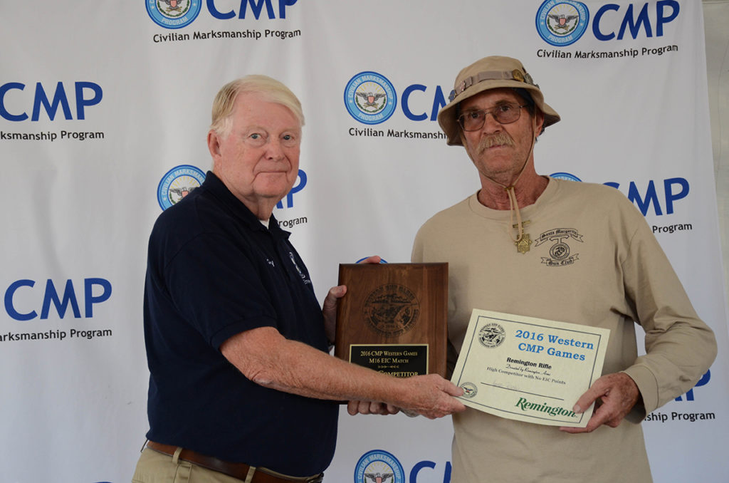 James Ritchie, 64, of Barstow, CA, was the overall winner of the M16 Match.