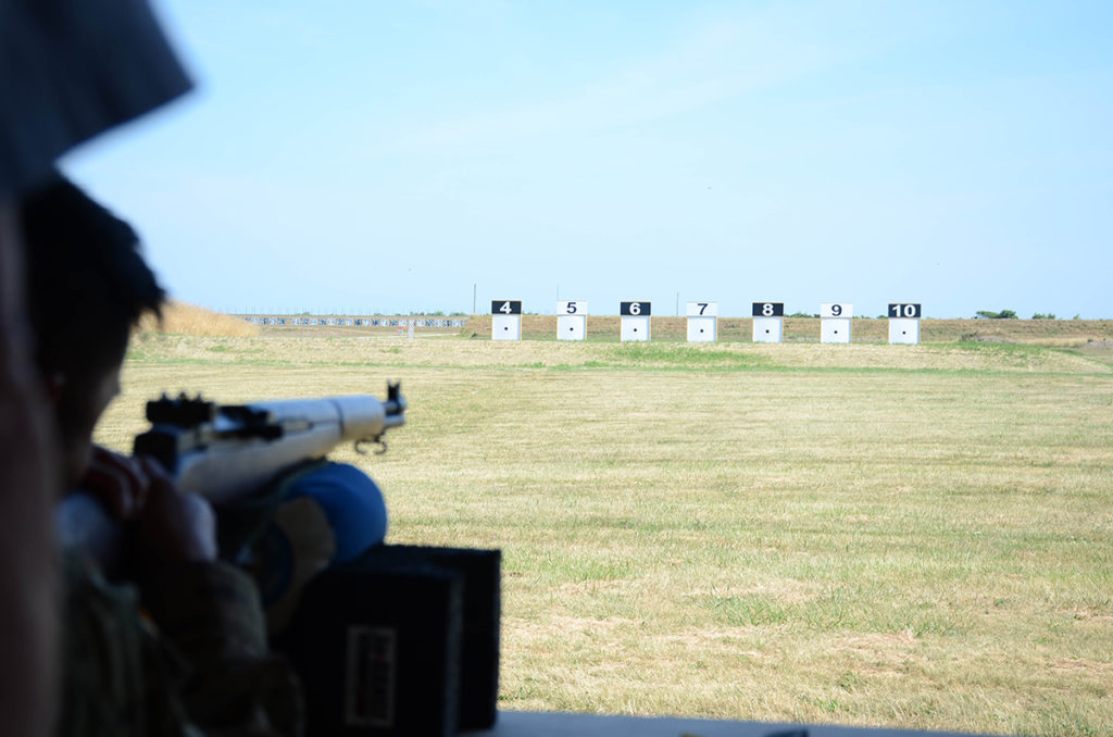 The electronic targets at Petrarca Range can accommodate both rifle and pistol firing and is capable of simulating multiple distances.