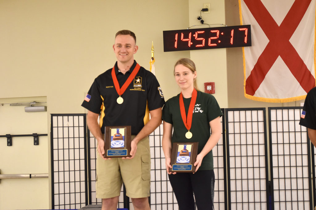 The overall rifle team was Along Came Molly: SSG George Norton and Molly McGhin.