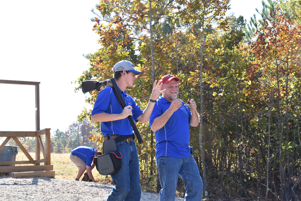 Guests to the Talladega Marksmanship Park sporting clay field often enjoy the fun and challenging course that changes with each visit.