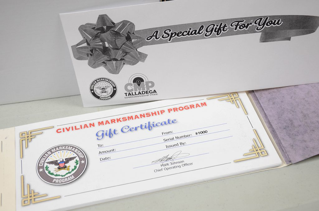 Cmp Now Offering Gift Certificates For Purchase Civilian