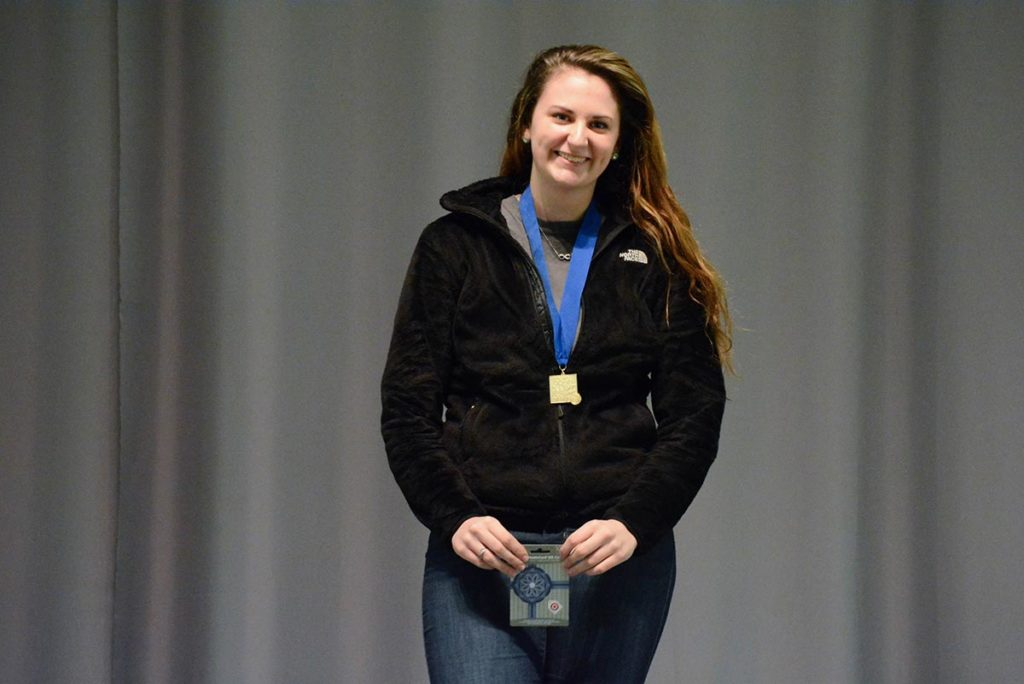 Junior Cierra Terrizzi from Dallastown MCJROTC in Pennsylvania was the overall winner in the rifle 60 Shot Open competition after an outstanding Finals performance on the last day of competition. She also came in third place in the Junior Rifle Match.