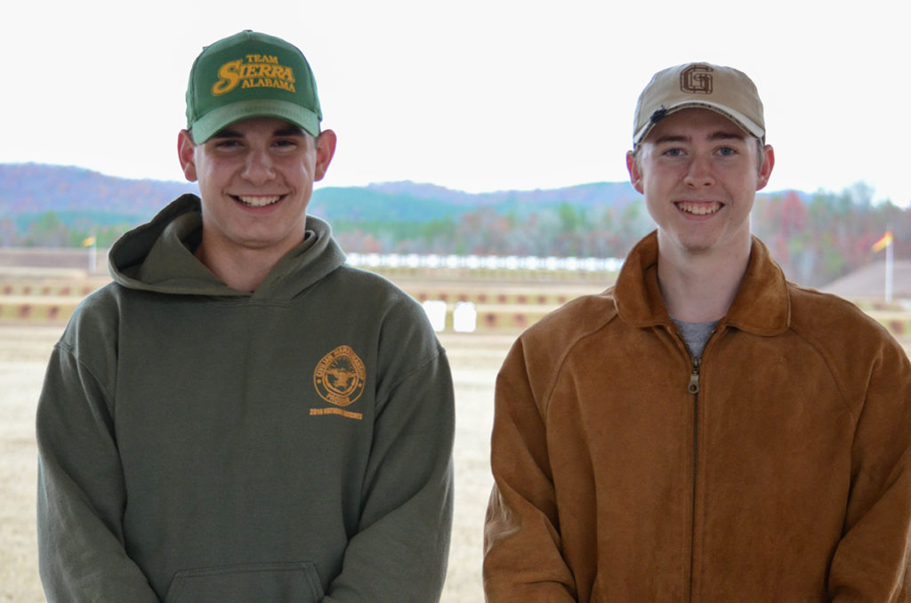 Kissik (left) and Umlauf (right) were the only two juniors to fire in the M16 Match at Talladega.