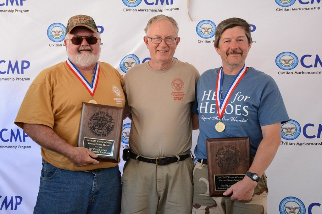 Bill and his partner, Bill Fairless of Vienna, IL, won the Vintage Sniper Match at the 2014 Western CMP Games in Arizona.