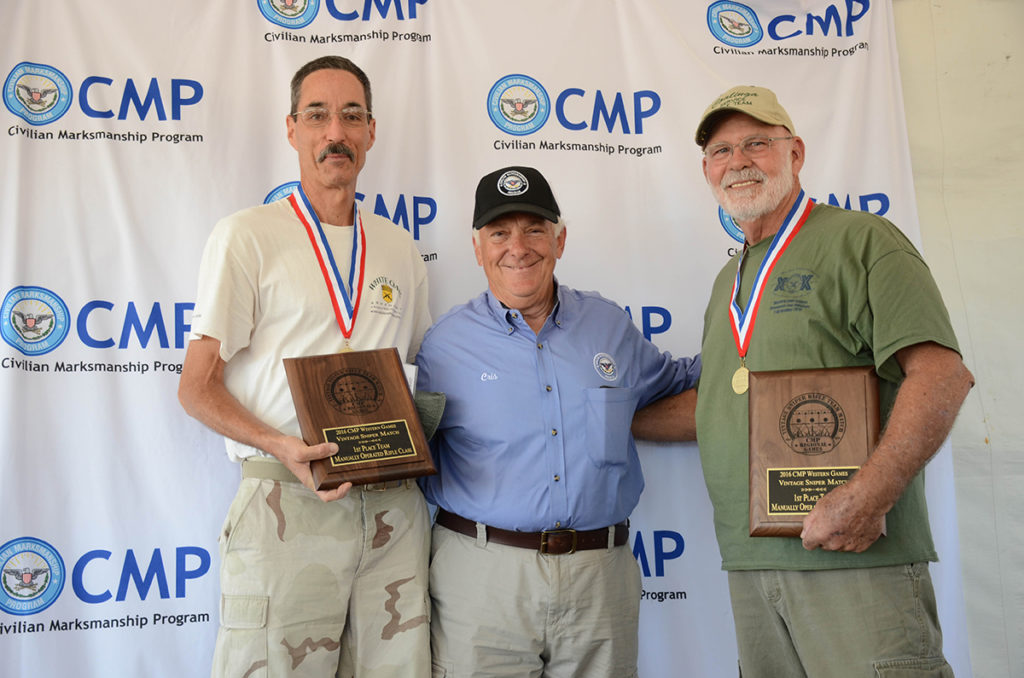 "The team ""M-2"" won overall in the manual rifle Vintage Sniper competition."