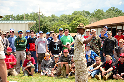 Participants in the USMC clinic received classroom education from the instructors before heading out on the range for dry and live firing.