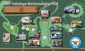 The 500-acre marksmanship park will be located 2 miles from the Talladega International Motor Speedway in Talladega County, Alabama.  The new CMP Talladega Marksmanship Park will feature a 600-yard rifle range with 54 electronic firing points, 100 yard multi- purpose range with 40 electronic firing points, 50 yard pistol range with 25 electronic firing points, 50 foot pistol qualification range, 15 action pistol bays, trap field with 5 stand overlay with automated trap machines, and 15 station sporting clays field with automated trap machines.