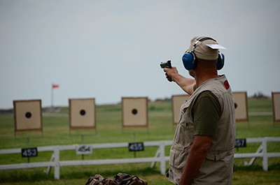 Over 270 competitors fired in the Service Pistol Warm-Up Match on July 8.