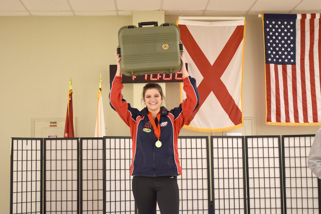 Katelyn Abeln was the overall junior competitor in the pistol competition.