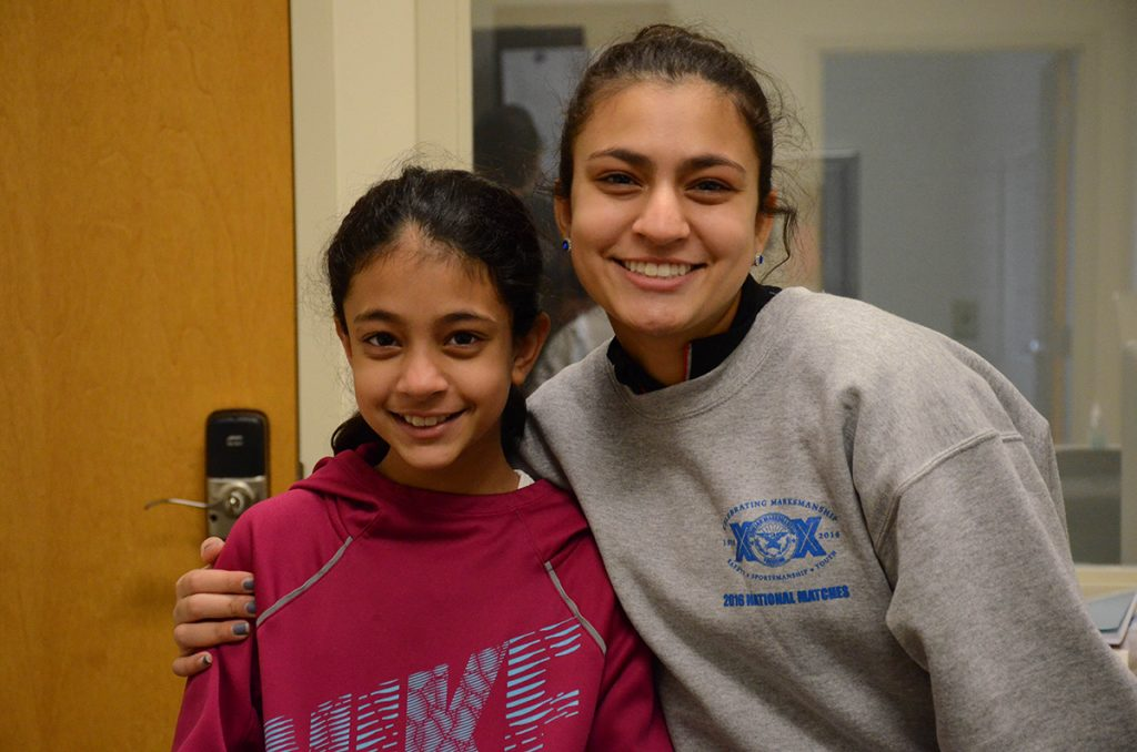 Sister Emma (left) and Aliya (right) both competed at the 2017 Camp Perry Open – Emma's first real competition.