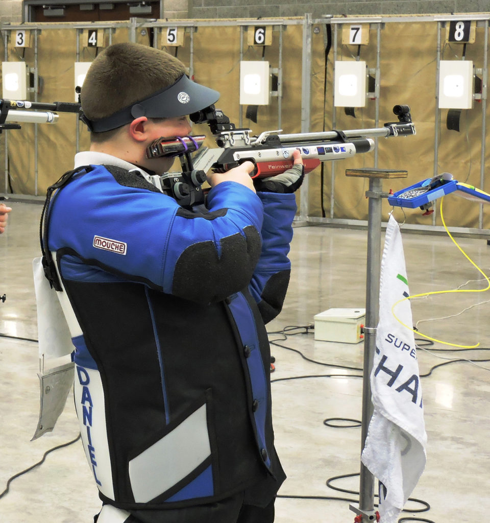 Cadet Daniel Enger was the overall precision champion at the 2016 JROTC National event. During the match, Enger fired upon the CMP's Megalink electronic targets (seen here). The CMP targets are the same used in Enger's home range in Washington.