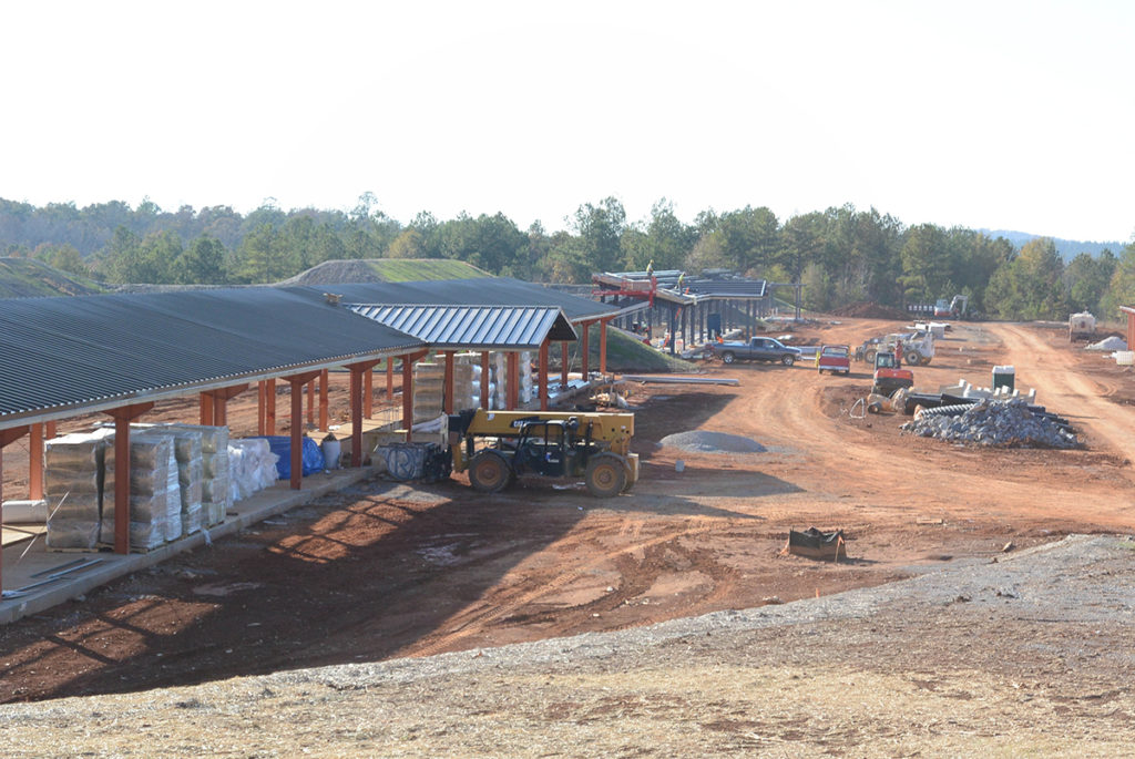 Work continues on CMP's new outdoor Talladega Marksmanship Park. The park will be open for public use on May 6, 2015 and will feature covered firing lines on its ranges for shooters' comfort.