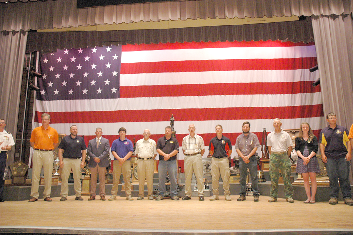 Distinguished Badge Presentations on Stage