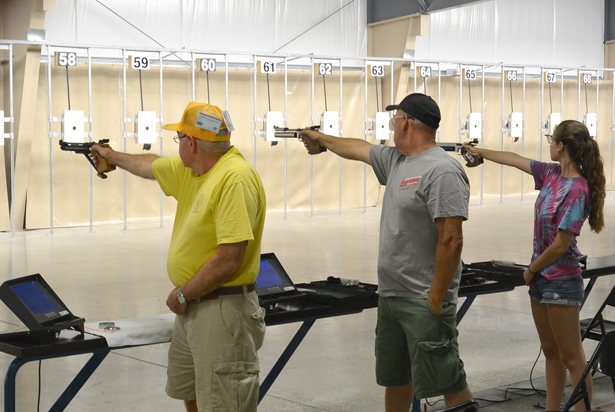 National Match Air Pistol events included a 60 Shot and a 30 Shot Match. A Center Shot contest was also held concurrently with the 30 Shot Match, with an astounding 658 entries at this year's event.