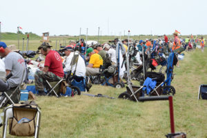 During this year's popular Vintage Sniper Match, 470 individuals approached the firing line in two-person teams to compete in the event.