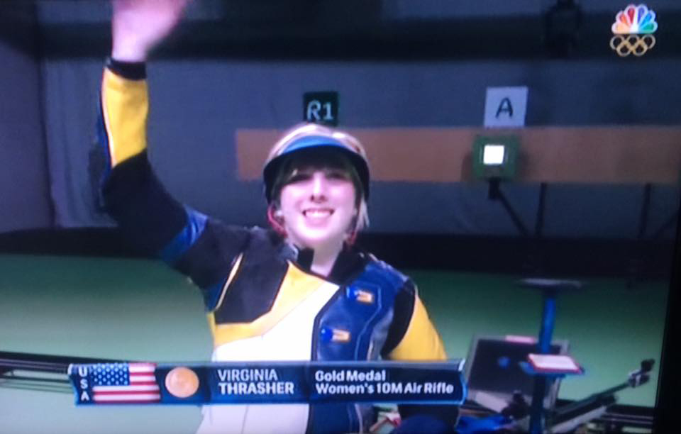 In her fifth year of shooting, Ginny claimed the Gold Medal on the opening day of the 2016 Rio Olympic Games.