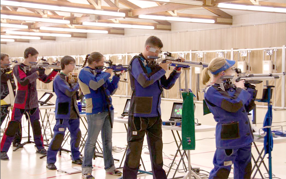Ginny (far right) attended two CMP Rifle Camps where she not only excelled, but learned of the potential for air rifle competition -- collegiate competition and the Olympics.