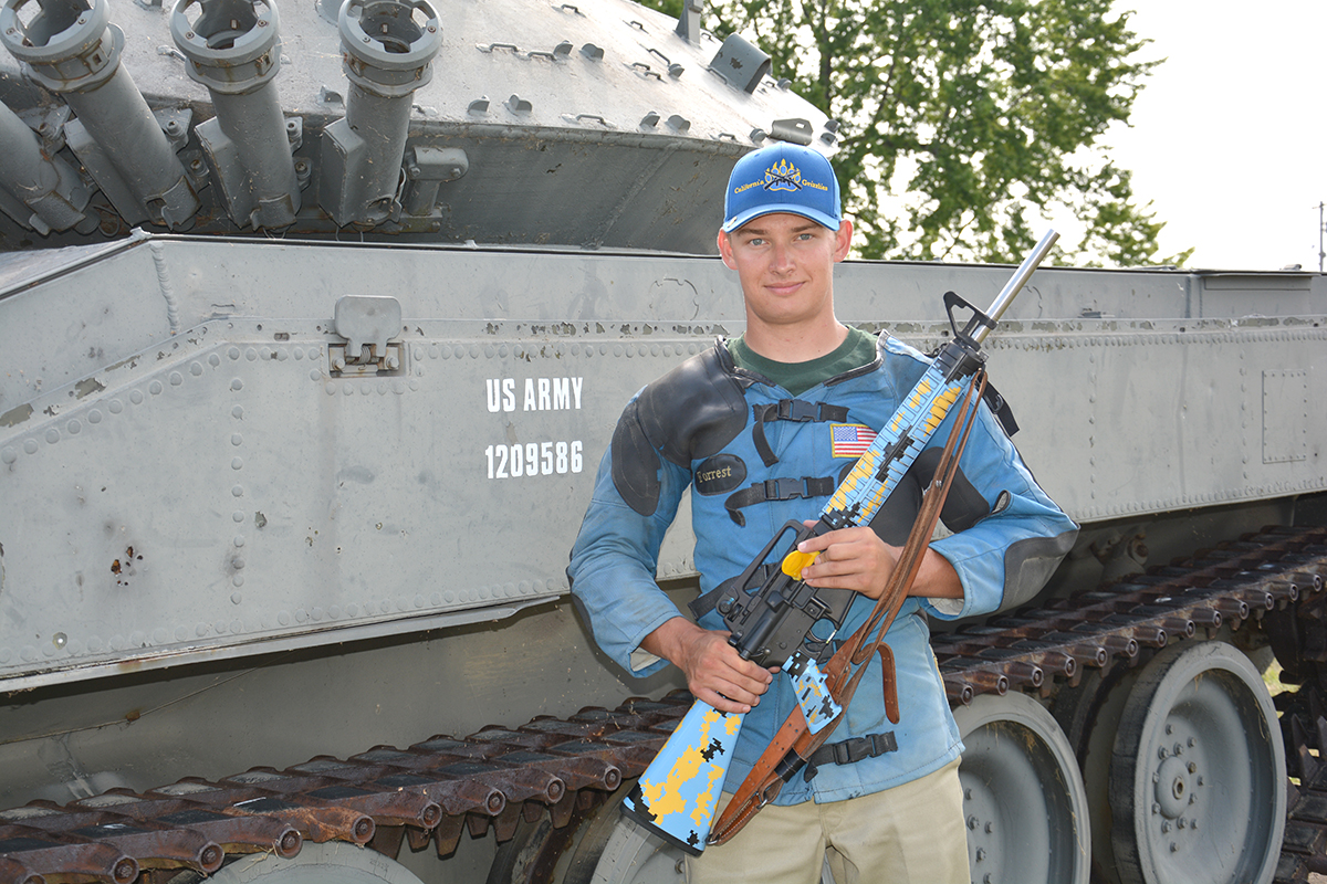 Forrest Greenwood of the California Grizzlies won multiple High Junior honors during the Rifle National Matches. This year, he will join the Army Marksmanship Unit.