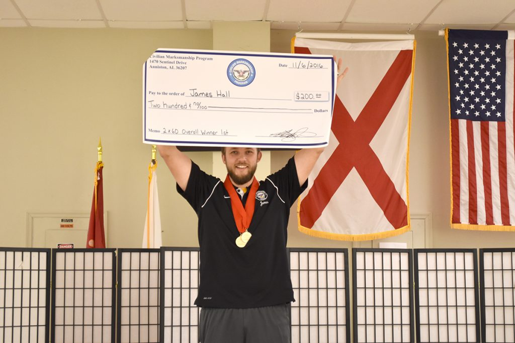 CMP's James Hall overtook the 60 Shot Pistol competition after winning Day 1 and Day 2 Finals.