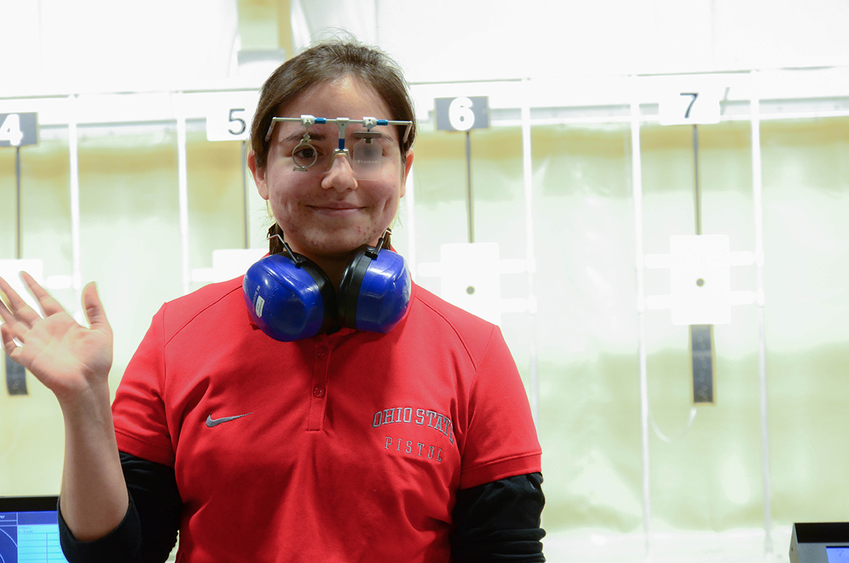 Irina Andrianova was formerly chosen as a CMP Scholarship recipient before becoming a member of The Ohio State University Pistol team.