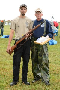 Jason Kozora and his step-dad, Craig Downing, built the M1 Garand Kozora used during the match. The two have built around 20 rifles together.