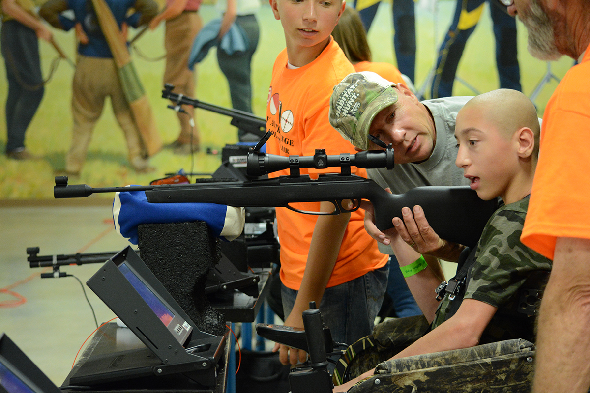 Ohio Day at the Range allows those with disabilities of all kinds to be able to participate in the activities they never knew they could before.