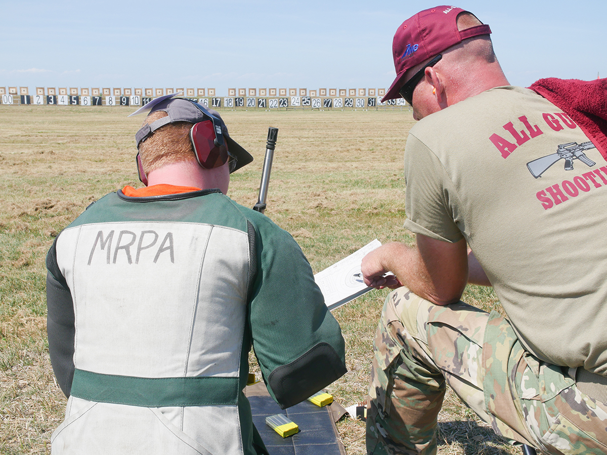 During the Small Arms Firing School, members of the Army Marksmanship Unit and qualified military shooting team members instruct participants in the classroom and on the firing line. CMP instructors also help train both new and experienced marksmen.