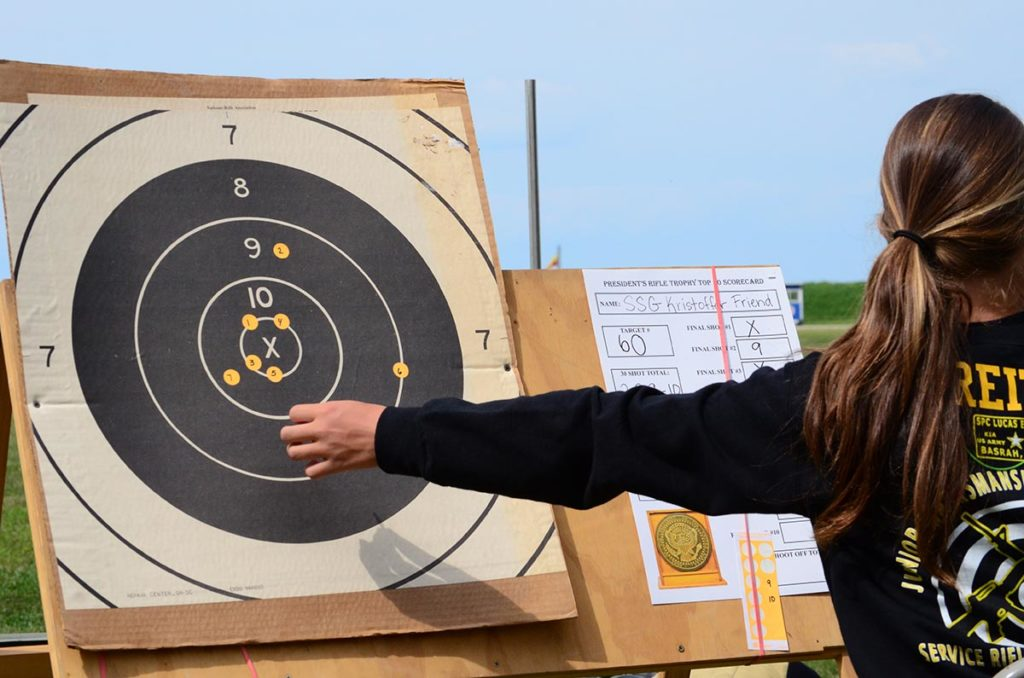 During the Shoot Off, official scorers mark each shot on large targets for spectators to see – making the event an exciting viewing opportunity.