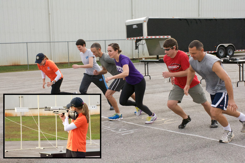 The Target Sprint, combining shooting and running, adds another fun challenge that can only be found at the Dixie Double.