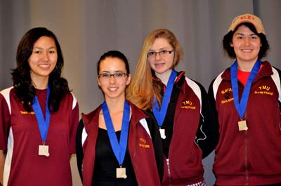 Taunton Gold was led by Sonya May, Alexa Aguiar, MacKenzie Martin and Sarah MacLagan.