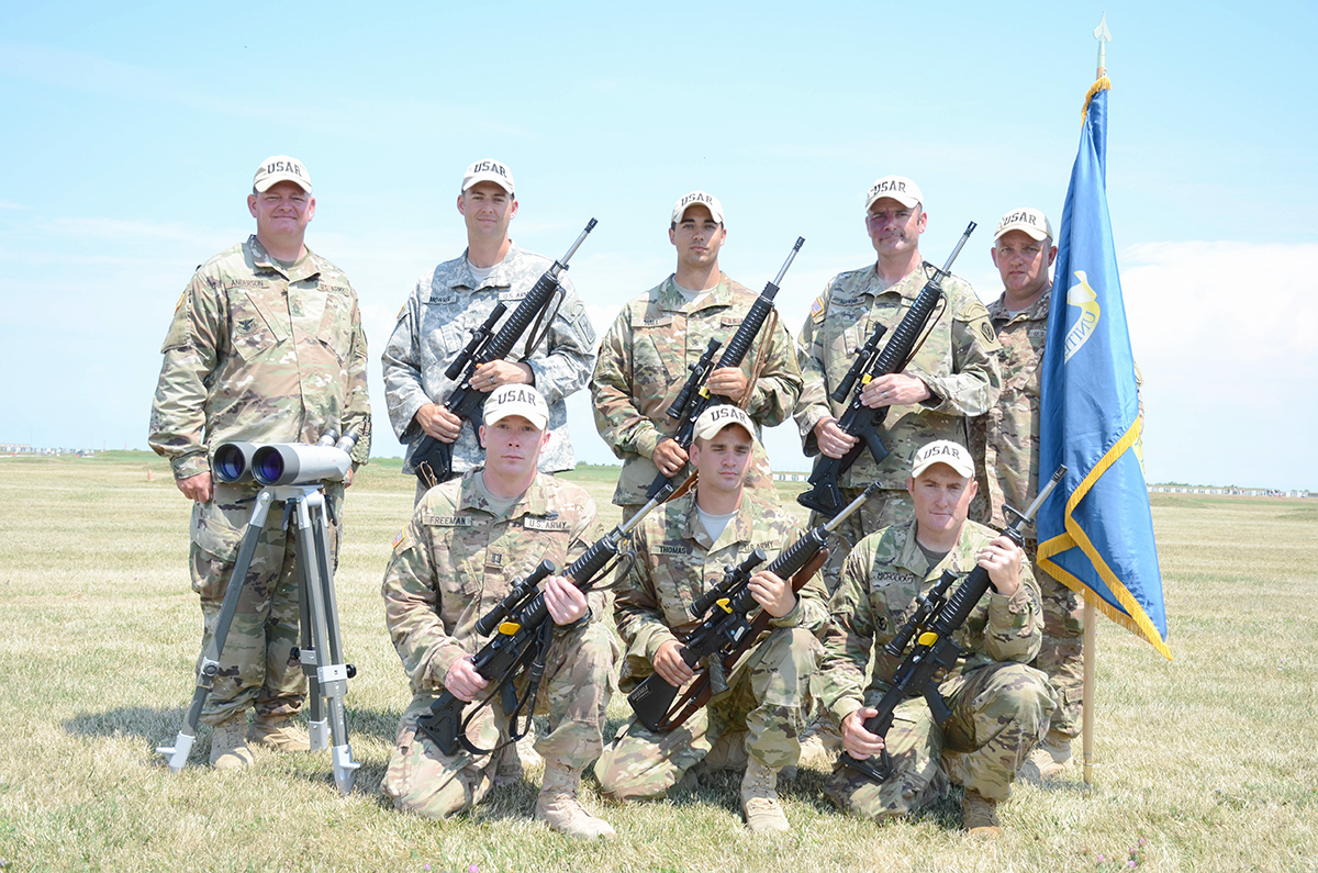 The Army Reserve Anderson team was the overall winner in the National Trophy Team competition. Team members also fired a new Reserve National Record in their win.